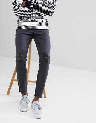 ONLY & SONS Skinny Jeans With Open Hems