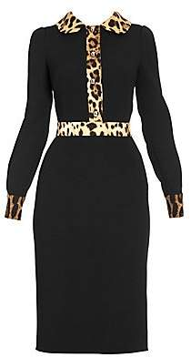 Dolce & Gabbana Women's Leopard Trim Dress