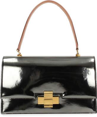 No.21 No. 21 Metallic Leather Alice Top Handle Bag