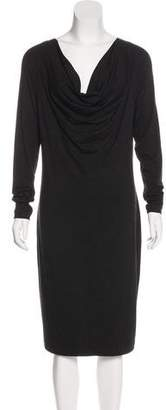 Jean Paul Gaultier Long Sleeve Knee-Length Dress