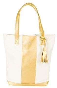 Cathy's Concepts Personalized Canvas and Faux Leather Weekender Tote