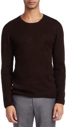 John Varvatos Collection Waffle Crewneck Sweater
