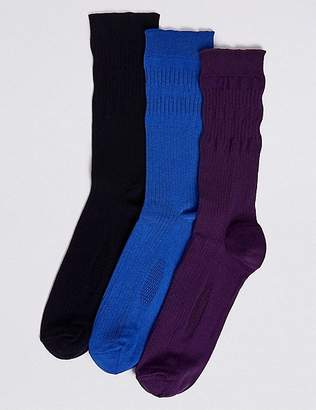 "Marks and Spencer 3 Pack Freshfeetâ""¢ Gentle Grip Socks"