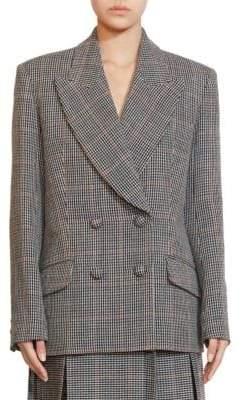 Erdem Jasper Check Wool Jacket