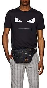 Fendi Men's Monster-Motif Cotton T-Shirt - Navy