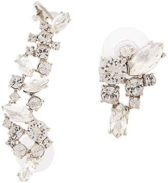 Marchesa crystal studded cuff earrings