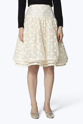 Marc Jacobs Dot Organza Layered Skirt