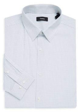 Theory Slim-Fit Cedrick Point Dot Print Shirt