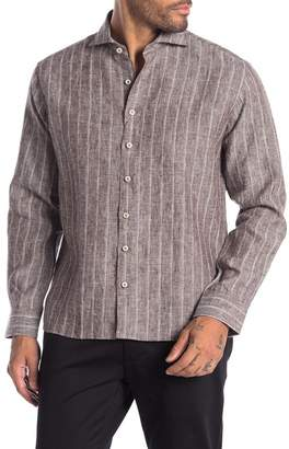 Singer + Sergant Stripe Print Brushed Linen Woven Shirt