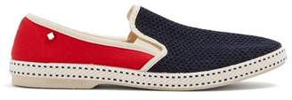 Rivieras Tour du Monde slip-on canvas loafers