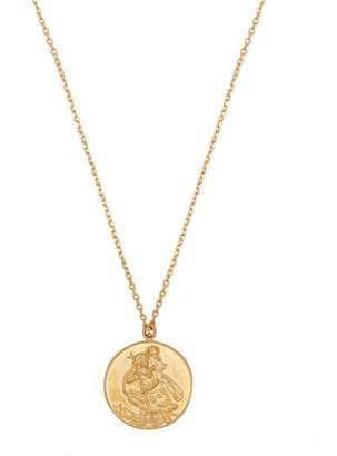 Theodora Warre - St Christopher Gold Plated Pendant Necklace - Womens - Gold