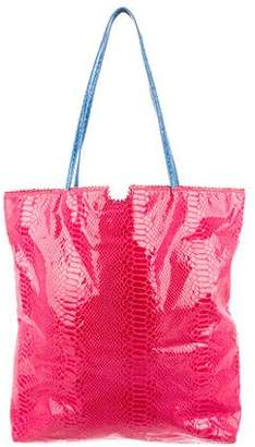 Carlos Falchi Embossed Tote Bag