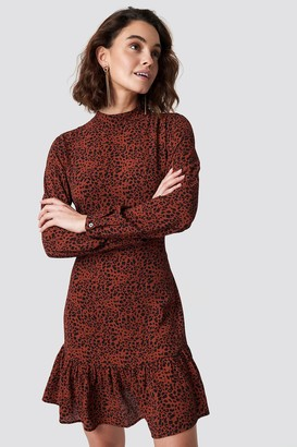 Rut & Circle Rut&Circle Leo Print Dress Red Combo