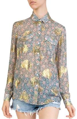 The Kooples Western-Inspired Floral-Print Shirt