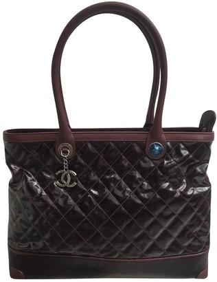 Chanel Burgundy Patent leather Handbag