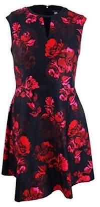 Tommy Hilfiger Women's Romance Print Cap Sleeve Dress with V Neckline