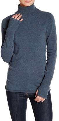 Inhabit Turtleneck Long Sleeve Cashmere Sweater $374 thestylecure.com