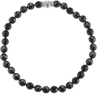 JCPenney FINE JEWELRY Faceted Onyx Magnetic Closure Necklace