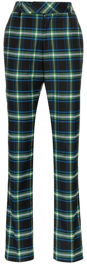 Matthew Adams Dolan High-Waisted Checked Trousers