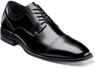 Stacy Adams Waltham Mens Leather Cap Toe Lace Oxford Dress Shoes