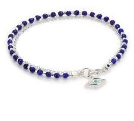 Astley Clarke Biography White Sapphire, Lapis, Turquoise& Sterling Silver Evil Eye Beaded Friendship Bracelet