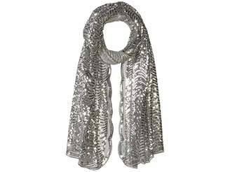 Betsey Johnson Tulle Wrap w/ Sequined Scallop Pattern