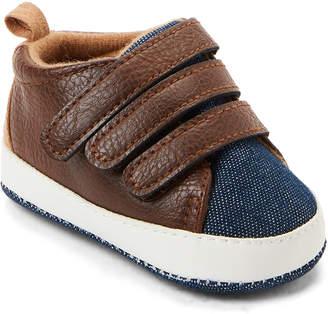 Rising Star (Infant Boys) Brown & Denim Low-Top Sneakers