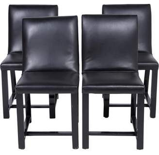 Set of 4 Lacquered & Upholstered Side Chairs