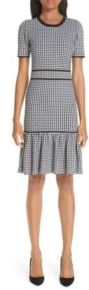 Michael Kors Gingham Ruffle Hem Dress