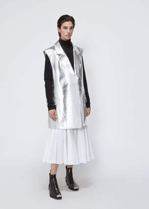 Calvin Klein Metallic Leather Gilet