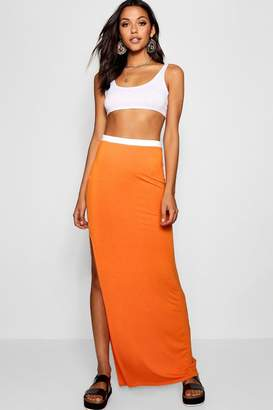 boohoo Tall Jersey Maxi Skirt