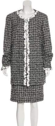 Chanel Embellished Tweed Skirt Suit
