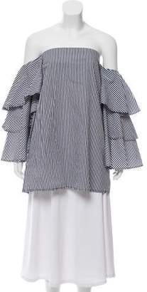 Faithfull The Brand Off-The-Shoulder Striped Top