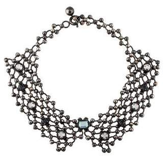 Lanvin Beaded-Chain & Crystal Collar Necklace