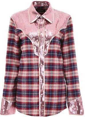 DSQUARED2 Tartan Shirt With Sequins