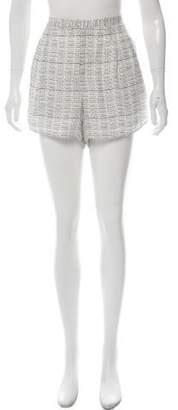 Haute Hippie Silk High-Rise Printed Shorts w/ Tags