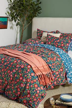 Leah Goren Painted Poppies Duvet Cover