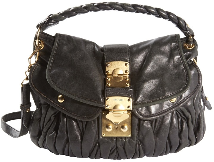 Miu MiuMatelassé leather handbag