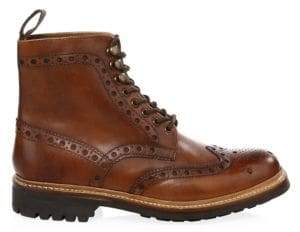 Grenson Men's Fred Commando Wingtip Boots - Tan - Size 7 UK (8 US)