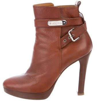 Ralph Lauren Collection Leather Ankle Boots