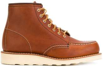 Red Wing Shoes lace-up loafer boots