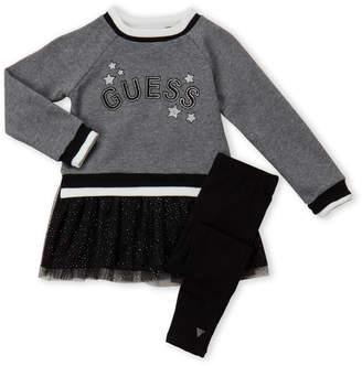 GUESS Girls 4-6x) Two-Piece Star Logo Sweater & Leggings Set