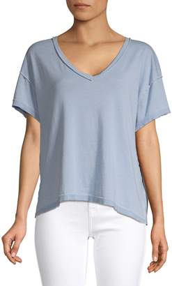 Free People All Mine Cotton Blend Tee