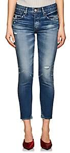 Moussy Women's Velma Distressed Skinny Jeans - Blue