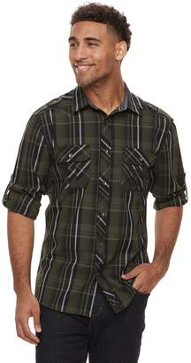 Rock & Republic Men's Plaid Woven Button-Down Shirt