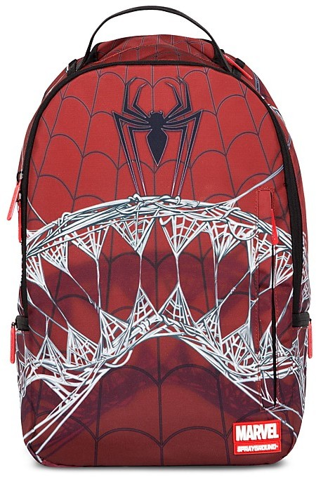 Sprayground Boys' Marvel Spiderman Webbed Shark Backpack