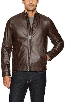Calvin Klein Men's Leather Moto Jacket