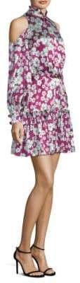 Alexis Audrina Floral-Print Silk Dress