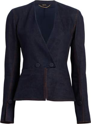 ADAM by Adam Lippes Stretch Denim Twill Blazer