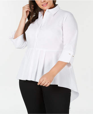 NY Collection Plus Size High-Low Tunic Shirt